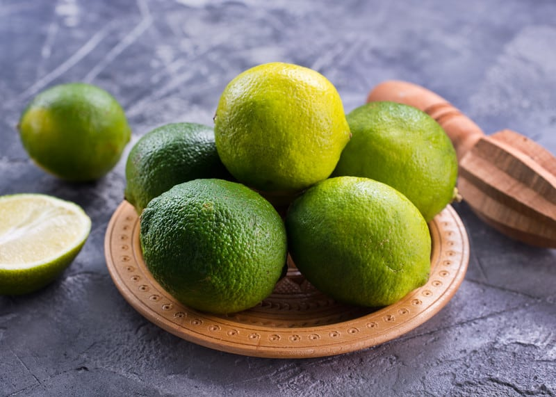 Limes on a table