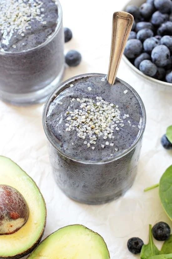 Blueberry Avocado Protein Smoothie