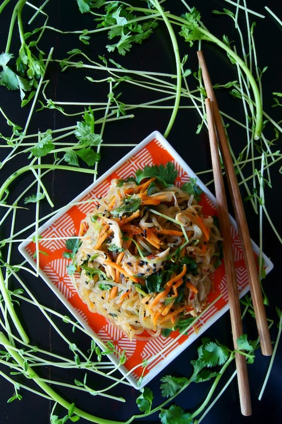 Sesame Chicken Shirataki Noodle Stir-Fry