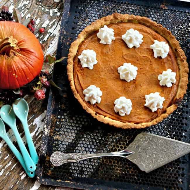 Pumpkin Pie with Almond Flour Tart Crust