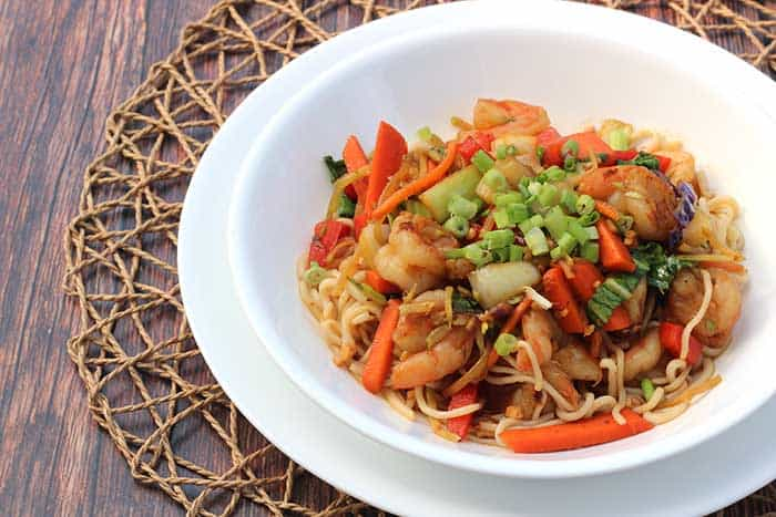 Shirataki Noodles with Shrimp Stir-Fry