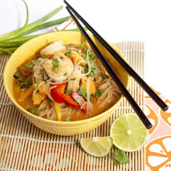Shrimp Curry Shirataki Noodles