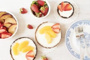 Desserts with Heavy Cream and Fruits