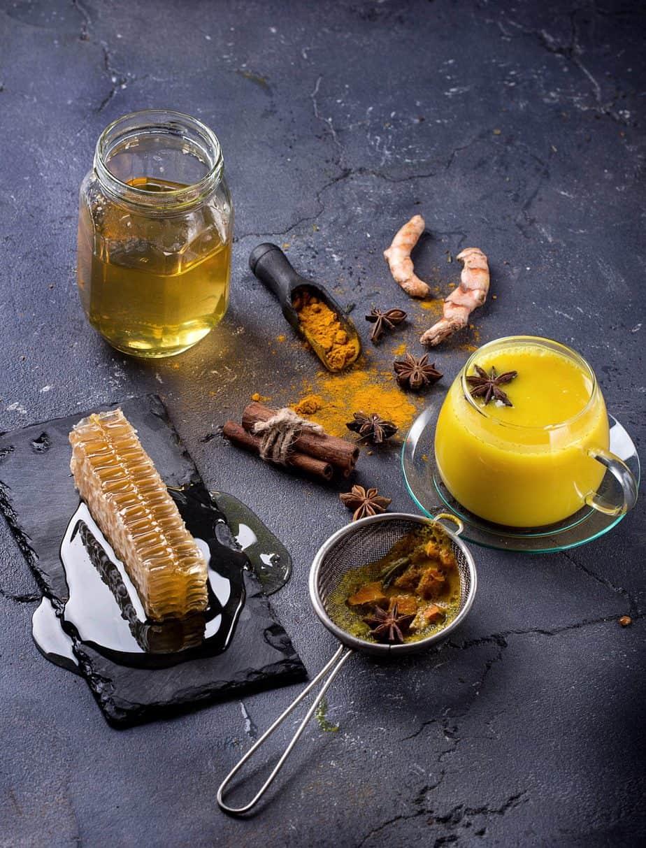 Tumeric milk chai